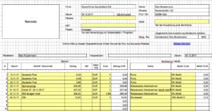 Spesenformular: Spesen mit dem gratis Excel abrechnen